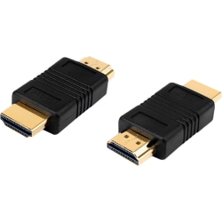 4XEM HDMI A Male To HDMI A Male Adapter - 1 x HDMI (Type A) Male Digital Audio/Video - 1 x HDMI (Type A) Male Digital Audio/Video - Gold Connector - Black