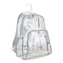 Eastsport Clear PVC Backpack, Pinstripe