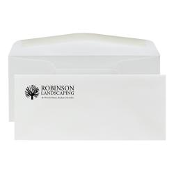 "Custom 1-Color Flat Print #10 Envelopes, 4-1/8"" x 9-1/2"", Bright White Woven, Box Of 250 Envelopes"