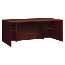 HON® Foundation Laminate Breakfront Desk Shell, Mahogany