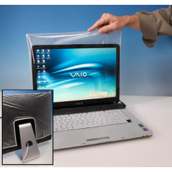 Viziflex Biosafe Anti-Microbial Laptop Screen Cover - Supports Monitor - Antimicrobial