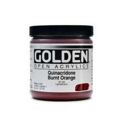 Golden OPEN Acrylic Paint, 8 Oz Jar, Quinacridone Burnt Orange