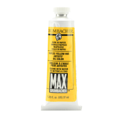 Grumbacher Max Water Miscible Oil Colors, 1.25 Oz, Naples Yellow Hue, Pack Of 2