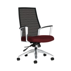 "Global® Accord Mesh High-Back Tilter Chair, 44""H x 25""W x 25""D, Red Rose"