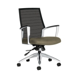 """Global® Accord Mesh Mid-Back Tilter Chair, 37""""H x 25""""W x 25""""D, Sandcastle"""