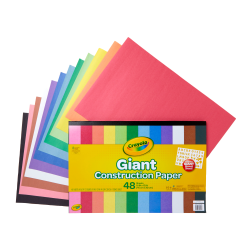 Crayola® Giant Construction Paper And Stencil Set, Tabloid Extra Paper Size, Assorted Colors