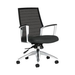 "Global® Accord Mesh Mid-Back Tilter Chair, 37""H x 25""W x 25""D, Granite Rock"