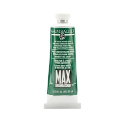 Grumbacher Max Water Miscible Oil Colors, 1.25 Oz, Thalo Green (Yellow Shade), Pack Of 2