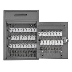 """Mail Boss Key Boss High Security Locking Key Cabinet/Drop Box, 16-1/4""""H x 11-1/4""""W x 4-3/4""""D, Granite"""