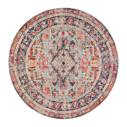 "Anji Mountain Chaloon Round Area Rug, 48"", Multicolor"