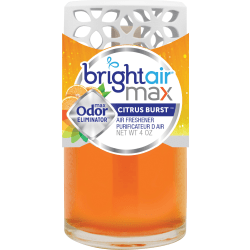 Bright Air Max Cool + Clean Odor Eliminator - Liquid - 4 fl oz (0.1 quart) - Citrus Burst - 1 Each - Phthalate-free, BHT Free, Odor Neutralizer, Paraben-free, Formaldehyde-free, NPE-free, Triclosan-free