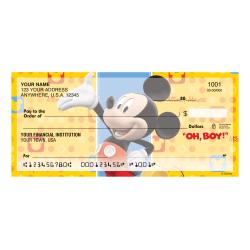 """Custom Personal Wallet Checks, 6"""" x 2-3/4"""", Duplicates, Mickey Fun-Tastic, Box Of 150 Checks"""