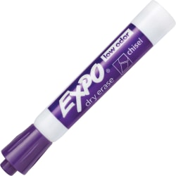 EXPO® Low-Odor Dry-Erase Markers, Chisel Point, Purple, Pack Of 12