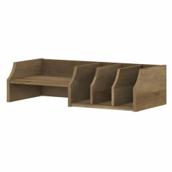 Bush Furniture Cabot Desktop Organizer With Shelves, Reclaimed Pine, Standard Delivery