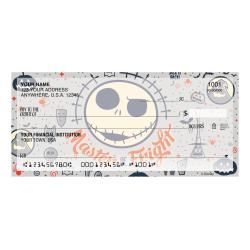 """Custom Personal Wallet Checks, 6"""" x 2-3/4"""", Duplicates, Nightmare Before Christmas Pumpkin King, Box Of 150 Checks"""