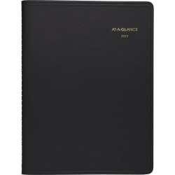 """AT-A-GLANCE® Open Scheduling Weekly Planner, 6-3/4"""" x 8-3/4"""", Black, January To December 2022, 7085505"""
