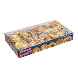 Svenhard's Swedish Bakery Danishes, Assorted Flavors, Pack Of 30