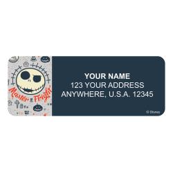 "Address Sheet Labels , Size 2 5/8"" x 1"", 30 labels per sheet, 4 sheets per set, Nightmare Before Christmas Pumpkin King"