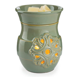 """Candle Warmers Etc Illumination Fragrance Warmers, 8-13/16"""" x 5-13/16"""", Medallion, Case Of 6 Warmers"""