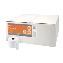"Office Depot® Thermal Paper Rolls, 3 1/8"" x 230', White, Carton Of 50"