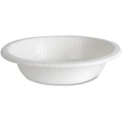 Dixie Basic® Lightweight Disposable Paper Bowls by GP Pro - 12 fl oz Bowl - Paper - Microwave Safe - White - 125 Piece(s) / Pack
