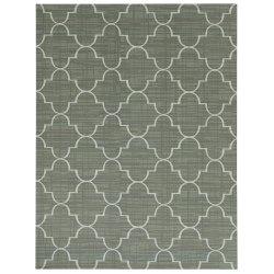 Foss Floors Area Rug, 6'H x 8'W, Roman, Green/White