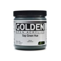 Golden OPEN Acrylic Paint, 8 Oz Jar, Sap Green Hue