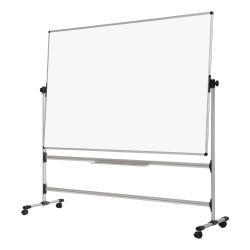 """MasterVision® Earth Melamine Non-Magnetic Dry-Erase Whiteboard Revolving Easel, 36"""" x 71"""", White"""