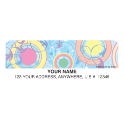 """Custom Address Labels, 2-1/2"""" x 3/4"""", Designs by Shan™ Disco, Pack Of 144 Labels"""