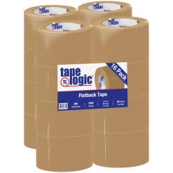 "Tape Logic® Flatback Tape, 3"" Core, 3"" x 60 Yd., Kraft, Case Of 16"