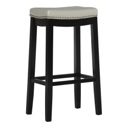 Linon Home Décor Products Walker Backless Bar Stool, Black/White