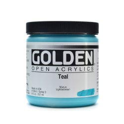 Golden OPEN Acrylic Paint, 8 Oz Jar, Teal