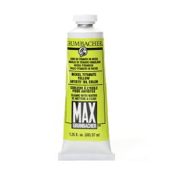 Grumbacher Max Water Miscible Oil Colors, 1.25 Oz, Nickel Titanate Yellow