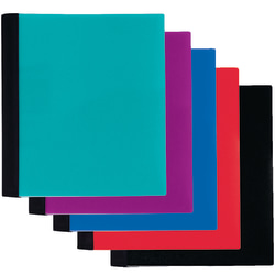 "Office Depot® Brand Spiral Stellar Poly Notebook, 9"" x 11"", 1 Subject, College Ruled, 100 Sheets, 58% Recycled, Assorted Colors"