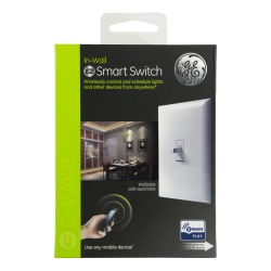 GE Z-Wave Plus In-Wall Smart Toggle Switch, White, 14292