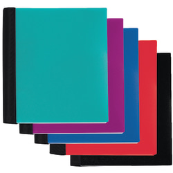 """Office Depot® Brand Spiral Stellar Poly Notebook, 9"""" x 11"""", 3 Subject, College Ruled, 150 Sheets, 57% Recycled, Assorted Colors"""
