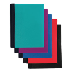 "Office Depot® Brand Spiral Stellar Poly Notebook, 6"" x 9"", 3 Subject, College Ruled, 120 Sheets, 56% Recycled, Assorted Colors"