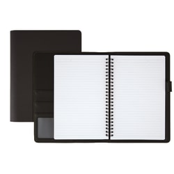 """Office Depot® Brand Premium Folio Notebook, Junior, 5 1/2"""" x 8 1/2"""", 1 Subject, Narrow Ruled, 120 Pages (60 Sheets), Black"""