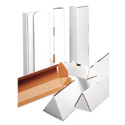 "Office Depot® Brand Triangular White Tube Mailers, 2"" x 30 1/4"", Pack Of 50"