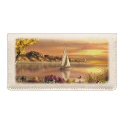 Custom Canvas Personal Wallet Checkbook Cover, Coastal Dreams