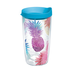 Tervis Tumbler With Lid, 16 Oz, Watercolor Pineapples