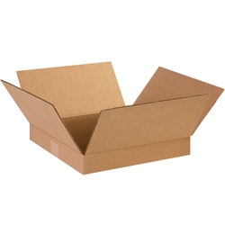 """Office Depot® Brand Corrugated Boxes, Flat, 2""""H x 14""""W x 14""""D, Kraft, Pack Of 25"""
