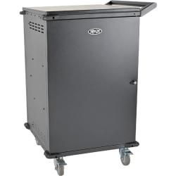 "Tripp Lite 42-Port AC Charging Cart Storage Station Chromebook Laptop Tablet Black - 3 Shelf - 26"" Width x 28.8"" Depth x 43.1"" Height - Steel Frame - Black - For 42 Devices"