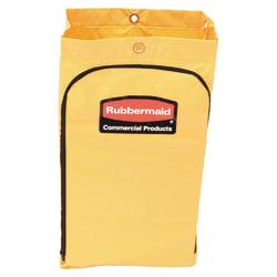 "Rubbermaid® Zippered Vinyl Cleaning Cart Bag, 24 Gallon, 30 1/2""H x 17 1/4""W x 10 1/2""D, Yellow"