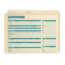 """ComplyRight Expandable Confidential Personnel Pocket Files, 11 3/4"""" x 9 1/2"""" x 1 1/4"""", Pack Of 25"""
