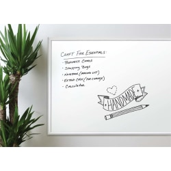 "U Brands Non-Magnetic Melamine Dry-Erase Whiteboard, 96"" x 48"", Aluminum Frame With Silver Finish"