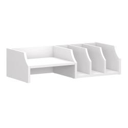 Bush Furniture Key West Desktop Organizer, Pure White Oak, Standard Delivery