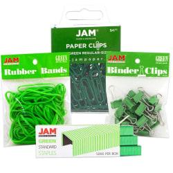 JAM Paper® 4-Piece Desk Supply Kit, Green