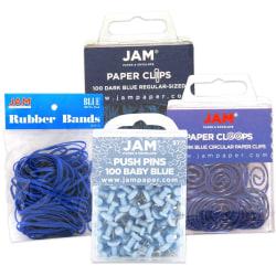 JAM Paper® 4-Piece Office Set, Blue