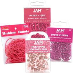 JAM Paper® 4-Piece Office Set, Pink